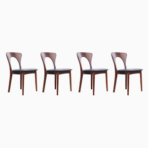 Scandinavian Rosewood Model Peter Side Chairs by Niels Koefoed, 1950s, Set of 4