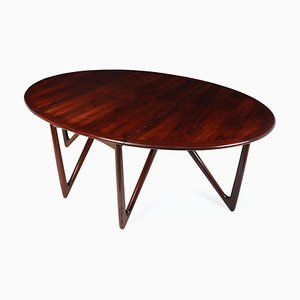 Mid-Century Danish Rosewood Dining Table by Kurt Østervig for Jason Møbler, 1960s