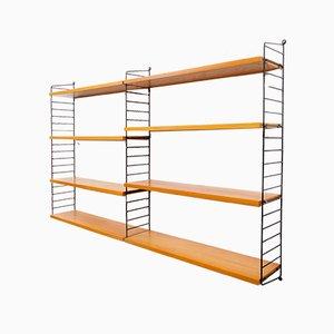 Swedish Double Model Shelf from String, 1960s