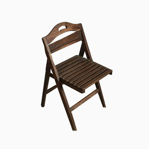 Slatted Chair in Wood, Italy, 1940s