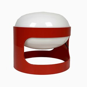 Red Model KD 27 Table Lamp by Joe Colombo for Kartell, 1970s