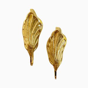 Vintage Leaf Sconces by Tommaso Barbi for G+G Studio & Disegno, Set of 2