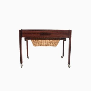 Mid-Century Rosewood Sewing Trolley, 1960s