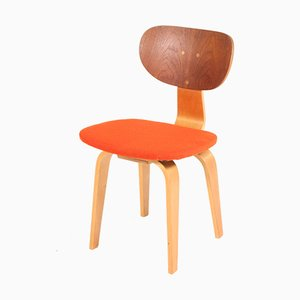 Mid-Century Modern Birch and Teak SB02 Dining Chair by Cees Braakman for Pastoe, 1952