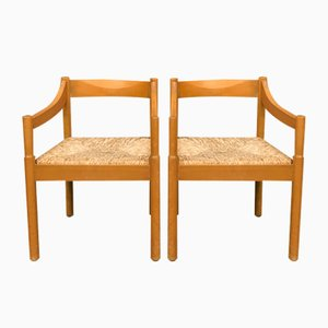 Carimate Dining Chairs by Vico Magistretti for Cassina, 1960s, Set of 2