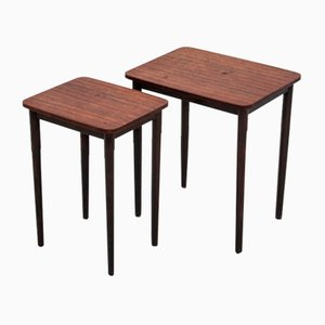 Rosewood Nesting Tables, 1960s, Set of 2