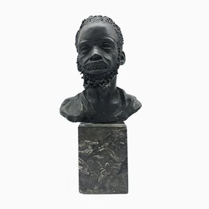 Vintage Head of an African Man Sculpture by A. Neiviller