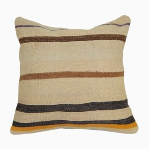 Tribal Striped Turkish Kilim Cushion Cover