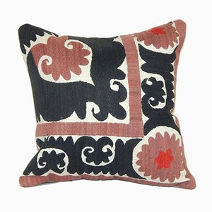 Large Colorful Suzani Embroidery Throw Cushion Cover