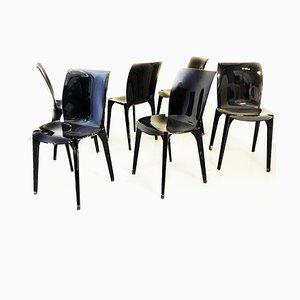 Lambda Esszimmerstühle von Marco Zanuso & Richard Sapper für Gavina, 1964, 6er Set