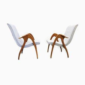 Mid-Century Lounge Chairs by Malatesta & Mason, Italy, 1950s, Set of 2