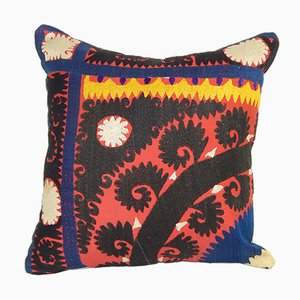 Colorful Embroidered Suzani Cushion Cover