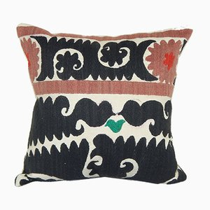 Embroidered Geometrical Suzani Cushion Cover