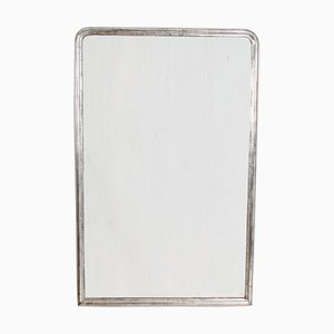 Antique Silver-Leaf Overmantle Mirror