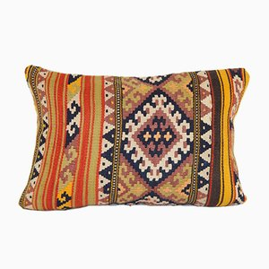 Turkish Kilim Lumbar Cushion Cover