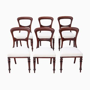 Victorian Mahogany Dining Chairs, 1880s, Set of 6