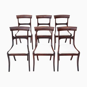 Regency Mahogany Dining Chairs, 1825, Set of 6