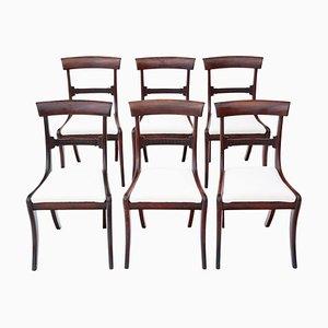 Regency Mahogany Dining Chairs, 1825, Set of 6