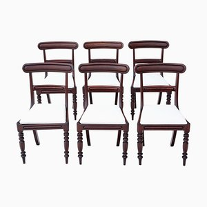 Victorian Mahogany Dining Chairs, Set of 6