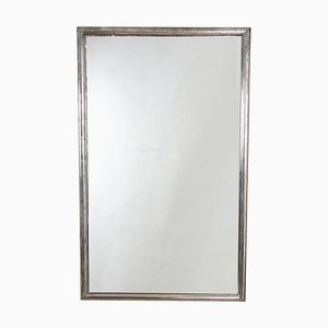 Antique French Silver-Leaf Bistro Mirror