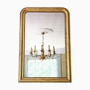 Large 19th Century Gilt Overmantle Wall Mirror