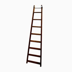 Victorian Haberdashery Rolling Ladder by Drew Clark & Co Ltd for Drew Clark & Co Ltd London