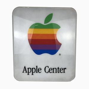 Apple Center Perspex Illuminated Sign, Italy, 1980s