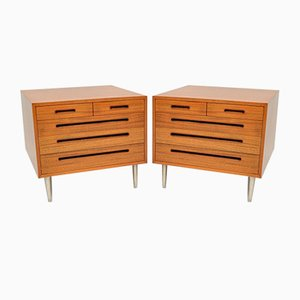 Vintage Mahogany Dressers by Edward Wormley for Dunbar, 1960s, Set of 2