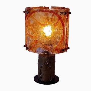 Brutalistische Mid-Century Tischlampe von Mazzega