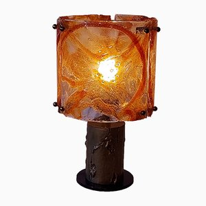 Mid-Century Brutalist Table Lamp from Mazzega
