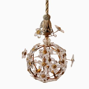 Vintage Flower Ceiling Lamp, 1930s