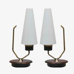 Lámparas de mesa danesas. Juego de 2