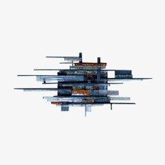 Italian Brutalist Single Sconce / Wall Lamp by Poliarte