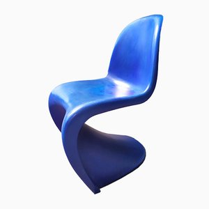 Sedia blu di Verner Panton per Vitra, 1967
