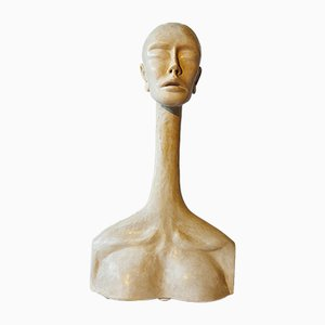 Vintage Sculpture Inspired by Modigliani