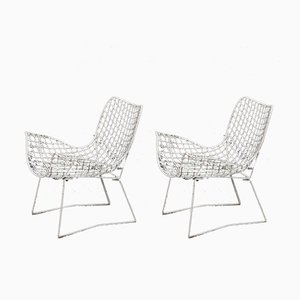 Metal Garden Chairs, 1960s, Set of 2