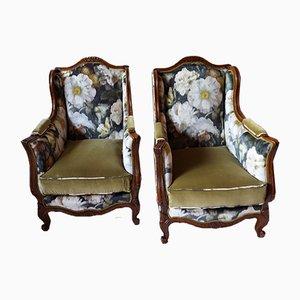Antike Bergere Sessel, 2er Set