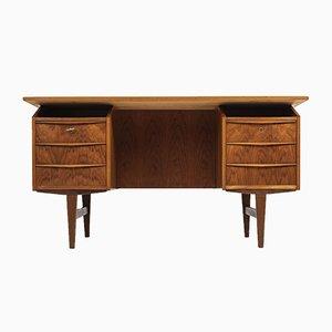 Vintage Teak Desk with Bar, 1960s