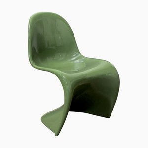 Green Stacking Chair by Verner Panton for Herman Miller, 1970s