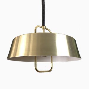 Vintage Danish Brass Pendant Lamp, 1970s