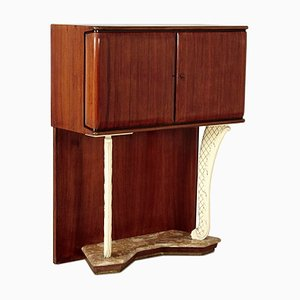 Mid-Century Italian Mahogany Bar Cabinet in the Style of Vittorio Dassi for Dassi Mobili Moderni, 1950s