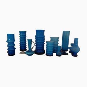 German Glass Vases by Karl Friedrich, 1960s, Set of 11