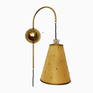 Swedish Adjustable Brass Wall Light, 1950s