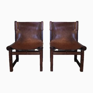 Mid-Century Low Chairs by Paco Muñoz for Darro, Set of 2
