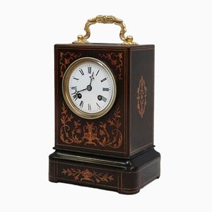 Antique Napoleon III French Inlaid Mantel Clock from Vincenti, 1860s