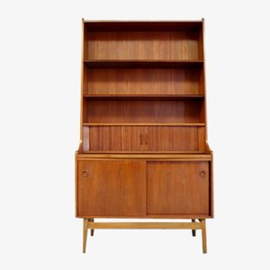 Danish Teak Secretary Cabinet by Borge Mogensen for Bornholm Mobler