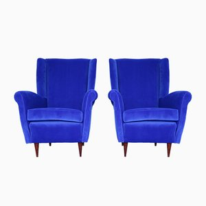 Mid-Century Lounge Chairs in the Style of Gio Ponti, Set of 2