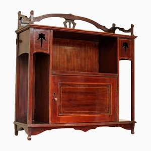 Antique Edwardian Mahogany Wall Cabinet
