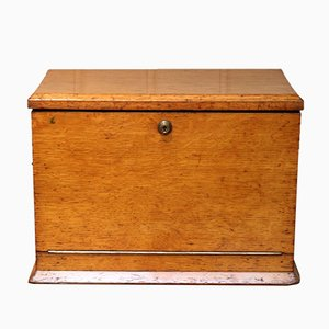 Antique Edwardian Oak Writing Box