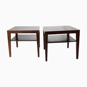 Rosewood Side Tables by Severin Hansen for Haslev Møbelsnedkeri, 1960s, Set of 2